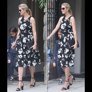 Ivanka Trump Black & White Midi Dress Ladies 14